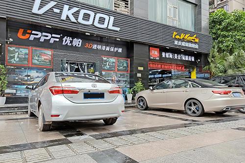 丰田卡罗拉贴威固V70+k28