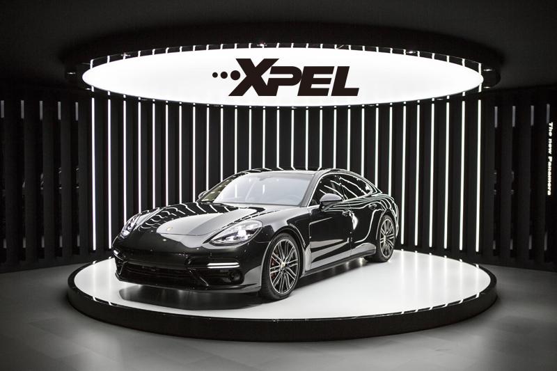 保时捷帕拉梅拉黑色贴XPEL隐形车衣效果