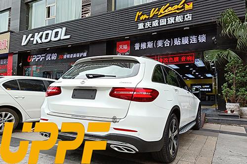 奔驰GLC260贴UPPF隐形车衣效果展